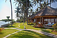 Oceanfront Deluxe-Bungalows mit einmaliger Lage
