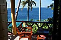 Ausblick vom Bungalow auf das Meer