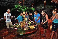 Buffet im Thalassa Dive Resort