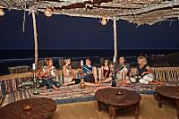 Ausklang des Abends mit Shisha in der gemütlichen Beduin Beach Bar